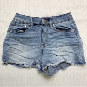 PINK Victoria's Secret Distressed Raw Hem Shorts